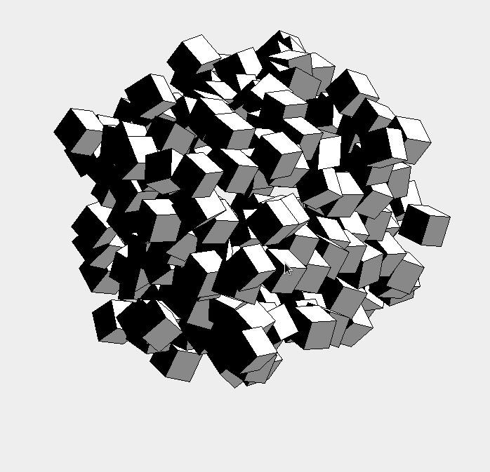 3D rotating cube engine java