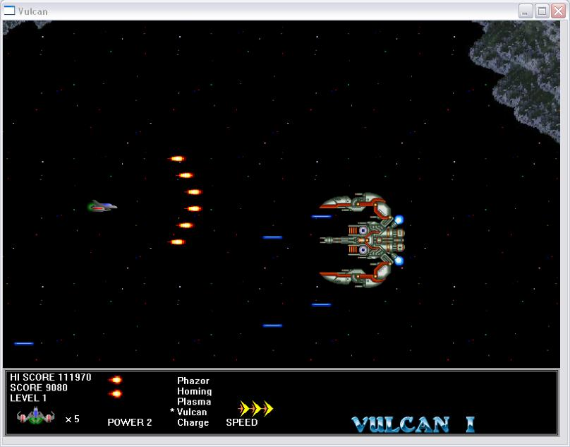 Vulcan Side Scrolling Space Shooter