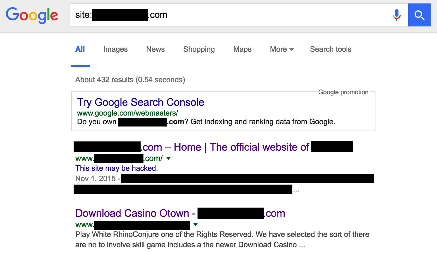 Wordpress Hack Fix - Google Redirects to Spam
